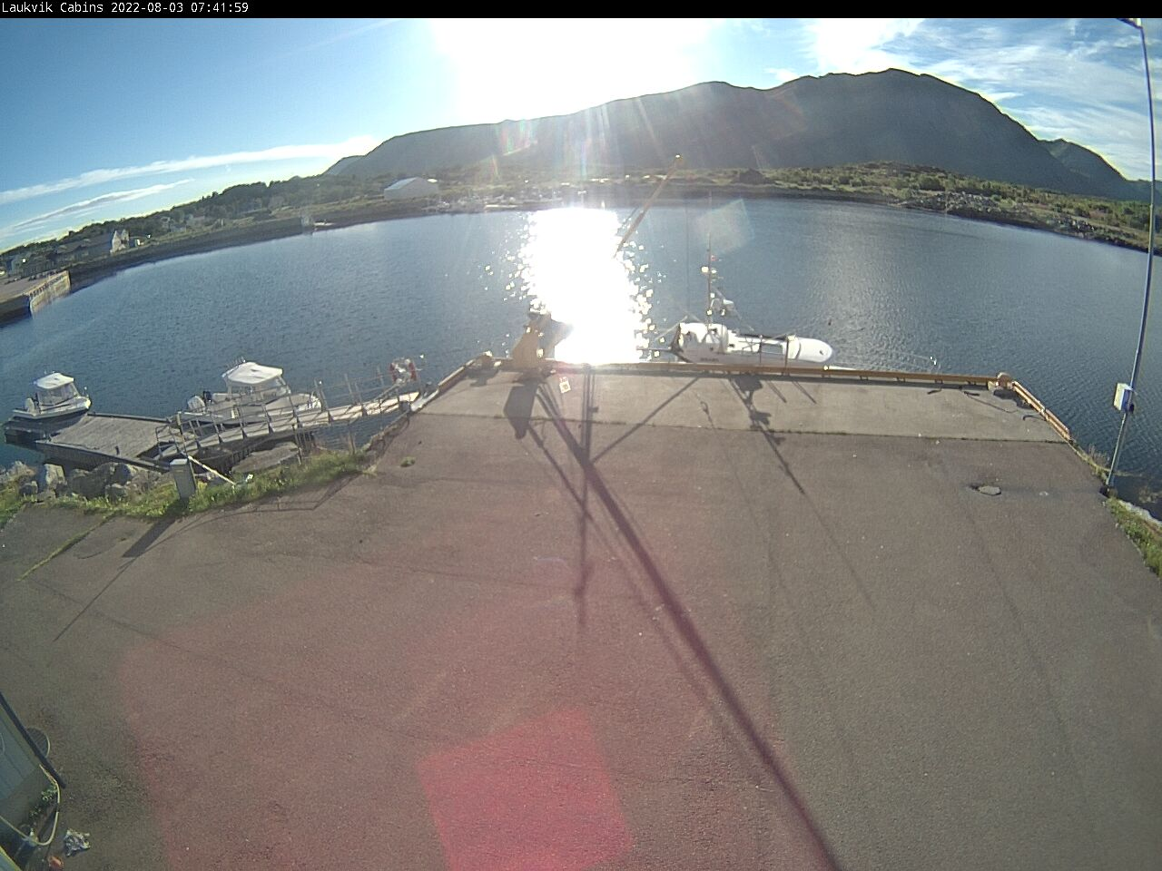 Webcamera from Laukvik, Lofoten, Norway